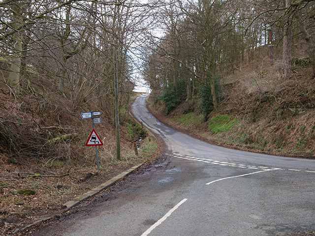 Road junction near Fryup Hall Farm
