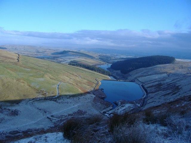 Upper Ogden Reservoir from Spence Moor