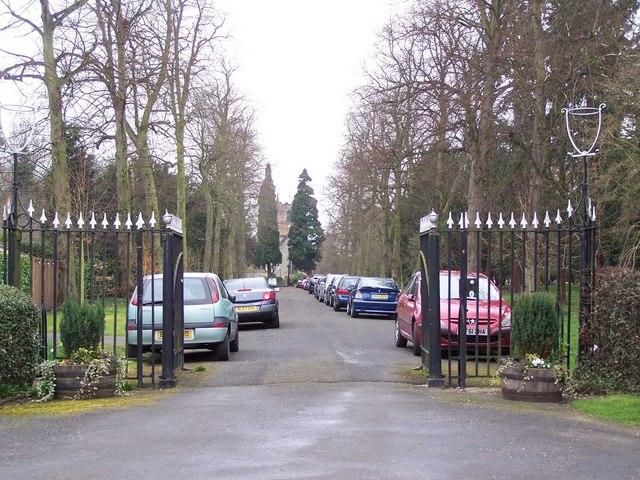 Driveway To Elford Church