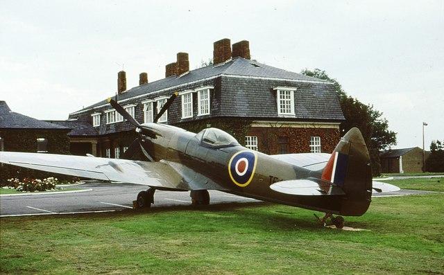 Spitfire outside Officers' Mess RAF Northolt