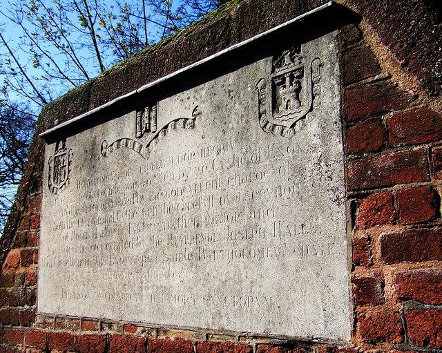 Commemorative stone on Bartholomew Street, Exeter