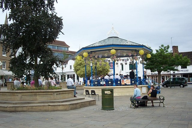 A band playing in the bandstand in Horsham
