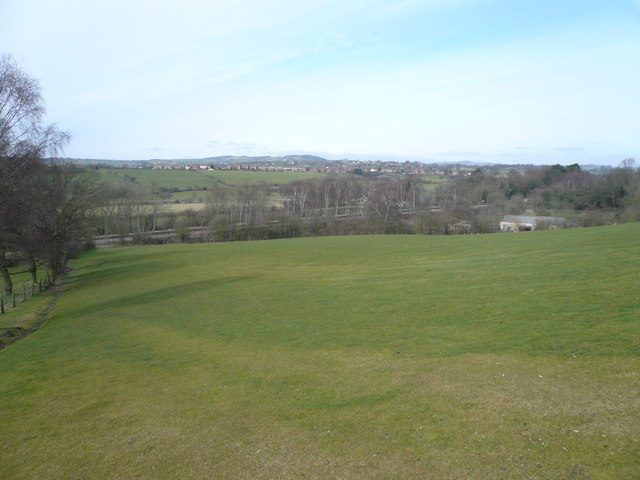 View on leaving Shaw Wood