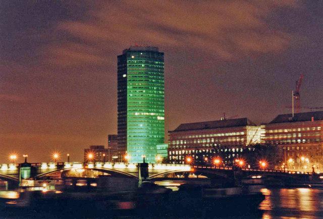 Millbank Tower with Lambeth Bridge, London