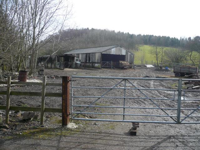 Smallholding backing on to Shaw Wood