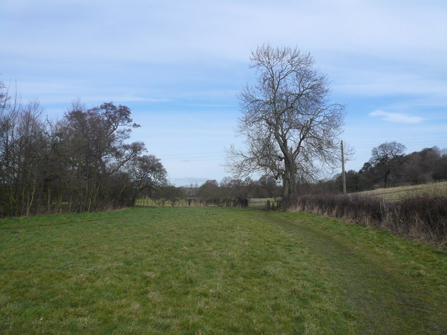 Footpath View on leaving  South Wingfield Churchyard
