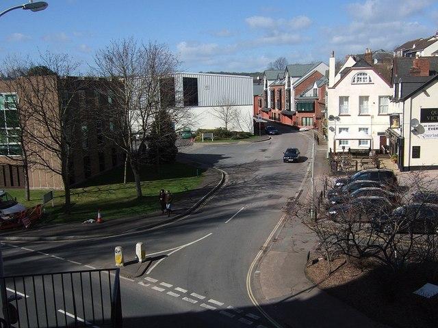Tudor Street from New Bridge Street, Exeter