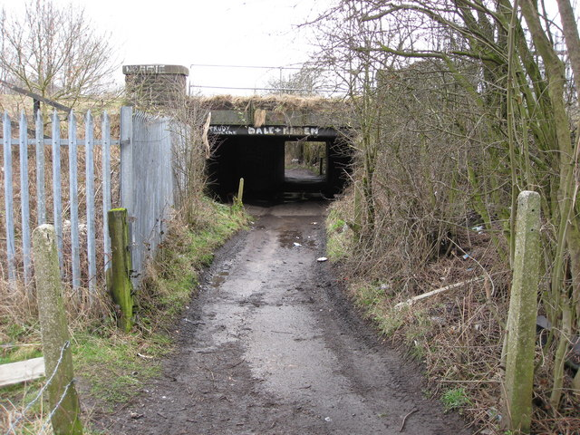 Mill Lane passes under the Railway Lines