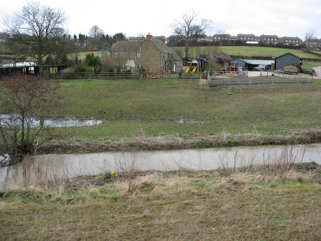 Farm - View across River Rother