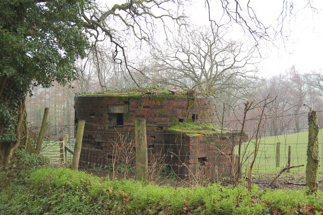 Pillbox overlooking the river Usk near Chain Bridge