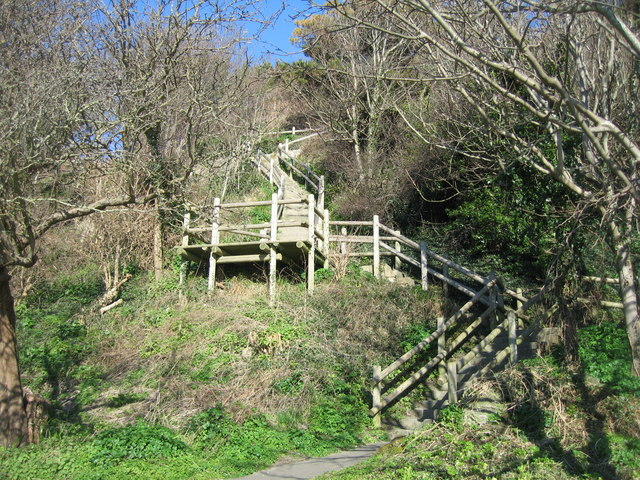 Staircase up the cliff