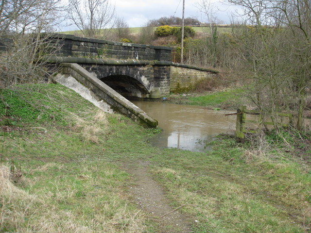 Avenue Washlands - River Rother passes under Mill Lane