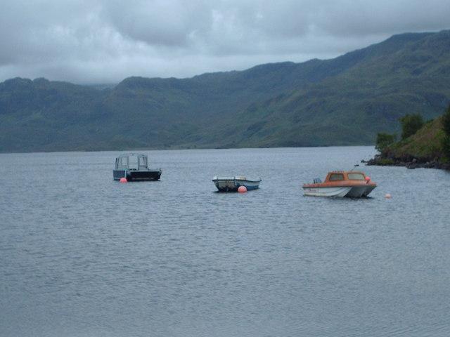 Boats on Loch Morar