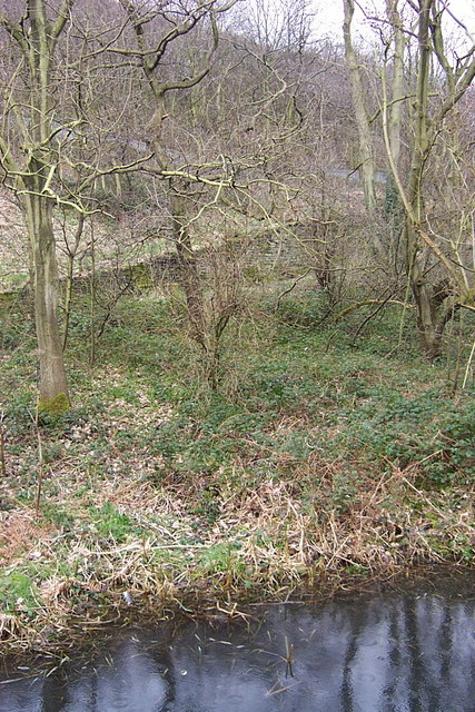 Retaining Wall to Quarry Track from Strangstry Wood