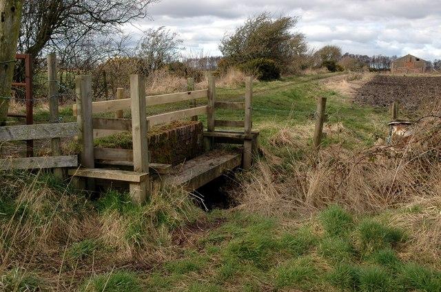 Bowness Common: footbridge beside main track bridge
