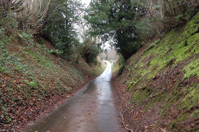 Sunken lane west of Mamhilad
