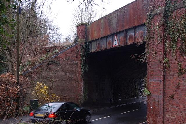 Disused railway bridge & WW2 pillbox in Usk