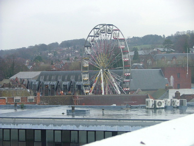 Big Wheel over the roof tops for the opening of Eden