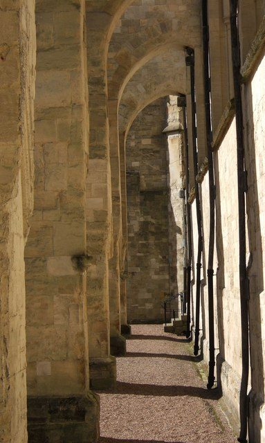 Flying buttresses, Exeter cathedral