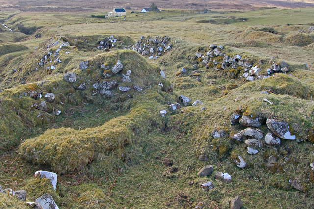 Ruined houses at Brescalan