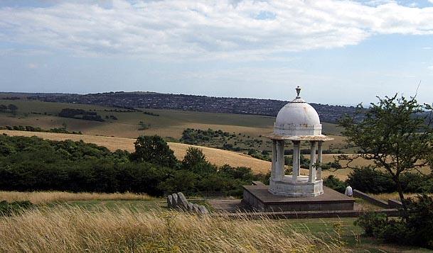 The Chattri War Memorial above Brighton