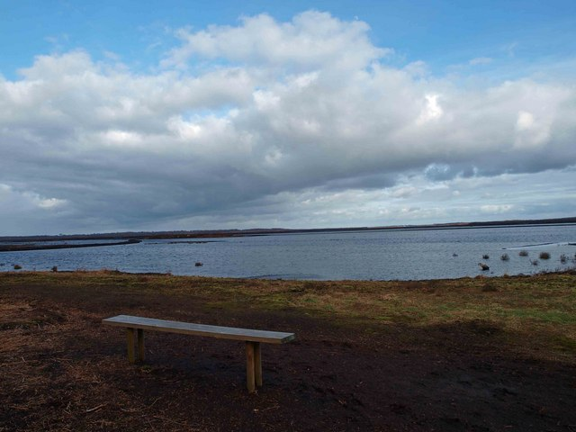 Bench at The Humberhead Peatlands National Nature Reserve