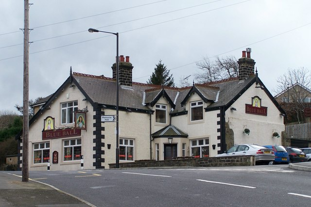 Blue Ball Pub at Worrall