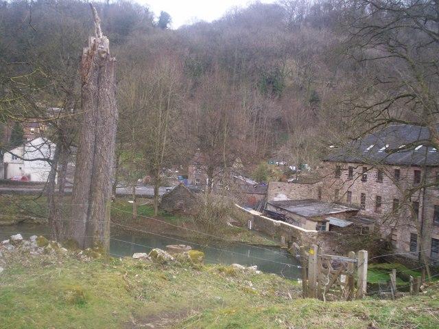 Via Gellia Mill and Pond