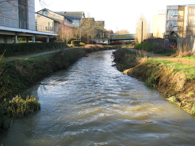 Littlemore Brook in the Oxford Science Park