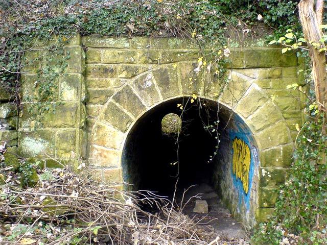 Tunnel beneath rail track