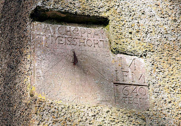 Sundial on Yarrow Parish Church