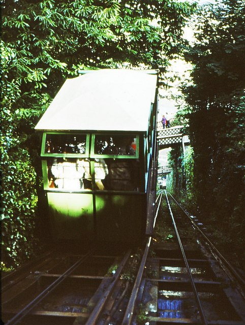 A carriage of the Lynton to Lynmouth railway