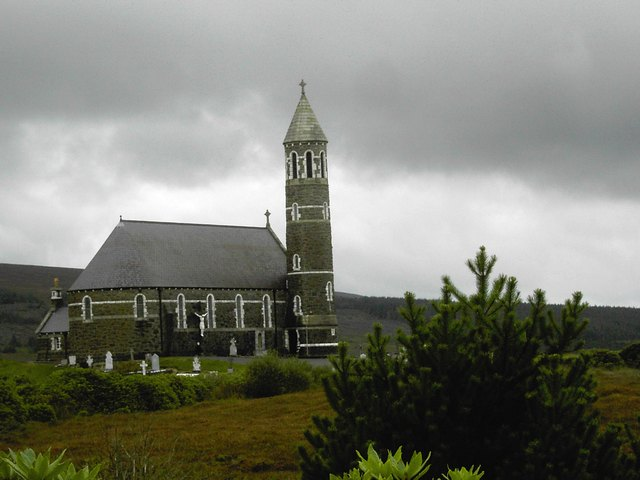 Church at Dunlewey, Glenveigh, Donegal