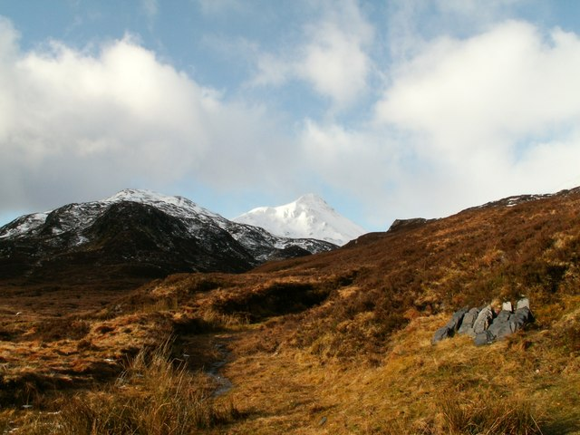 Snow covered Stob Ban