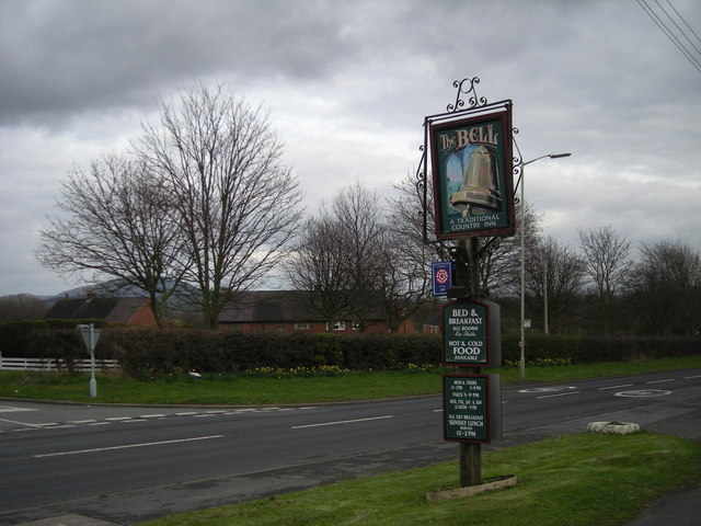 Sign along the A458
