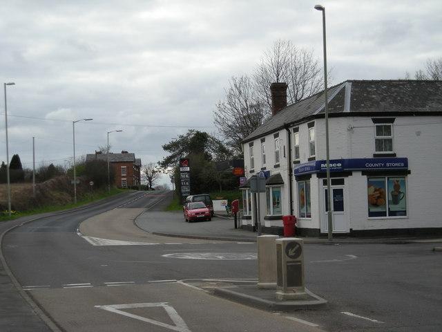 Village shop, post office & garage.