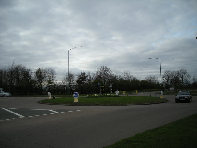 Traffic island on the old by-pass