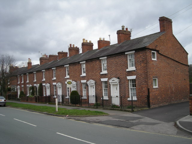 Terraced houses near the Civic Centre