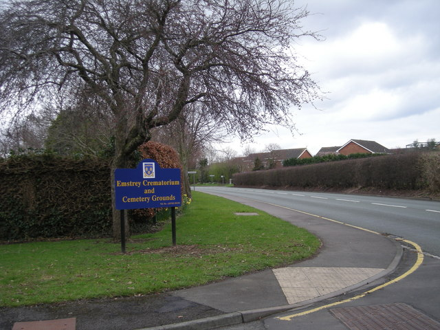 Entrance to Shrewsbury Crematorium