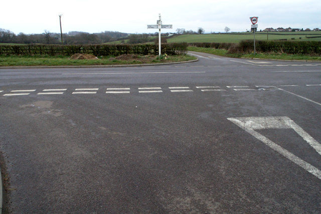 Road junction near Holwell
