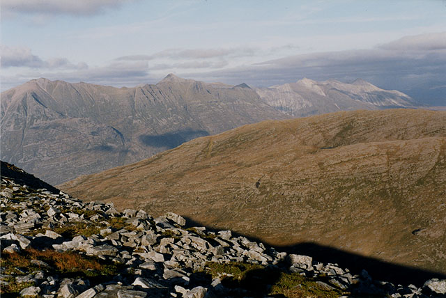View north east from Beinn Damh