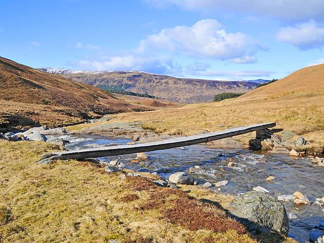 Footbridge over the Allt Bail' a' Mhuillinn