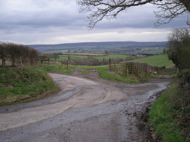 Junction with a bridleway