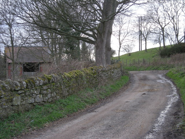 Lane past Charlton Hill Farm