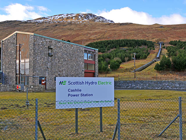 Cashlie hydro electric power station