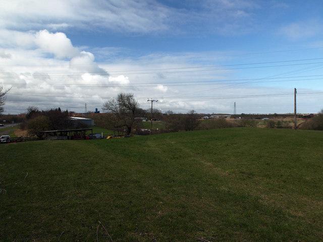 Fields looking toward West Sleekburn from Red Row