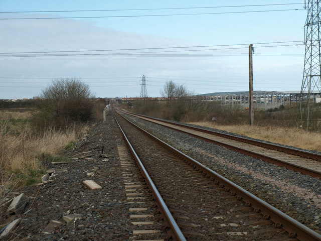 Looking down the branch line toward Ashington
