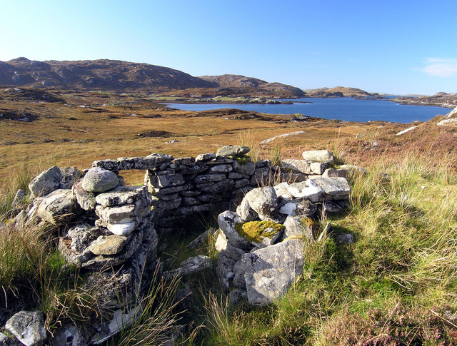 Shieling at the head of Loch Strome