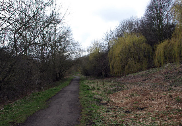 Footpath along the side of the River Blyth