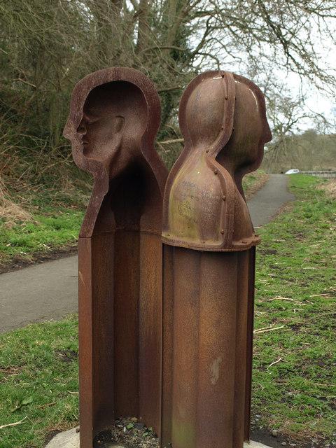 Public Art Piece Called Janus